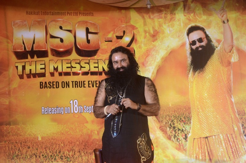 Gurmeet Ram Rahim Singh,MSG 2 The Messenger,MSG 2,MSG 2 The Messenger music launch,MSG 2 The Messenger audio launch