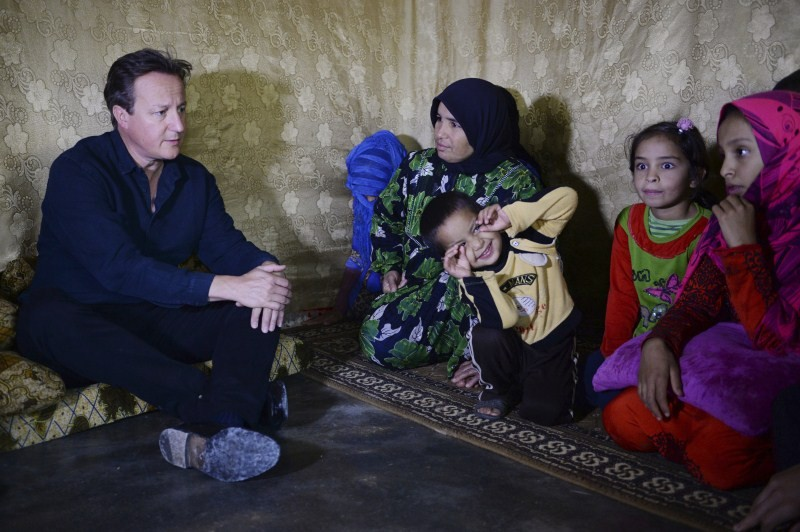David Cameron,David Cameron meets refugees in Lebanon camp,Prime Minister David Cameron,Bekaa Valley in Lebanon,Bekaa Valley,Lebanon,refugees,Syrian refugee
