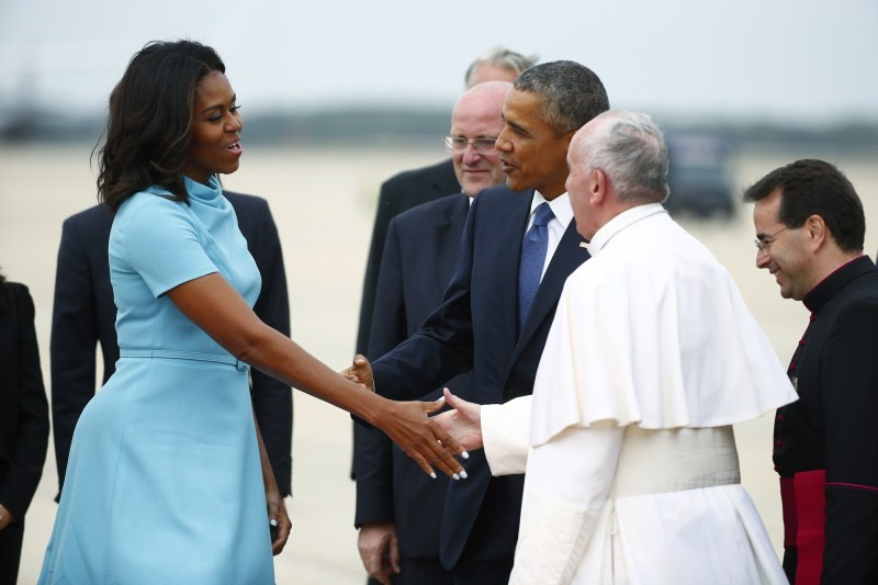 President Obama,Obama,Barack Obama,Pope Francis in US,Pope Francis,Pope Francis arrives United States