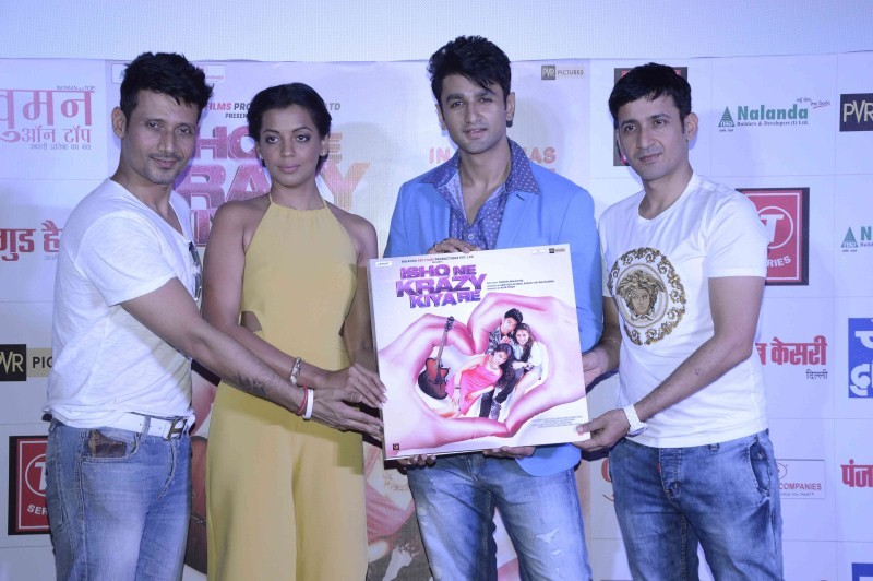 Ishq Ne Krazy Kiya Re trailer launch,Ishq Ne Krazy Kiya Re,Mugdha Godse,Naresh Malhotra,Nishant Malkani,Ishq Ne Krazy Kiya Re trailer launch pics,Ishq Ne Krazy Kiya Re trailer launch images,Ishq Ne Krazy Kiya Re trailer launch photos,Ishq Ne Krazy Kiya Re