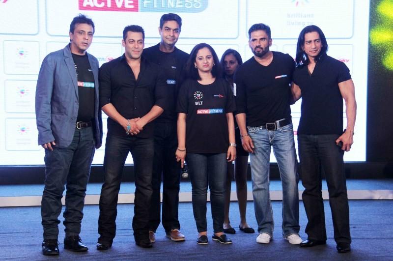 Salman Khan,Suniel Shetty,Tata Sky's Health and Fitness launch,Tata Sky's Health and Fitness,Salman Khan and Suniel Shetty
