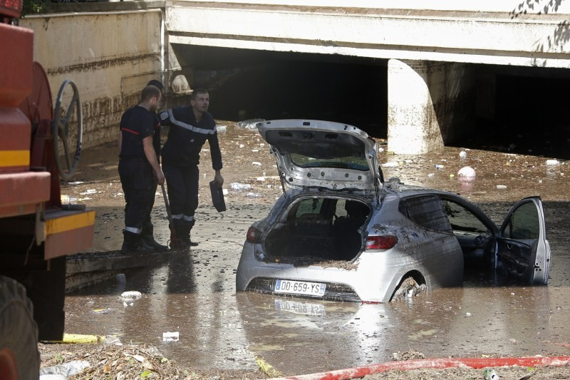 French Riviera,French Riviera floods,natural disaster,Torrential rain,flooded,Mandelieu-la-Napoule