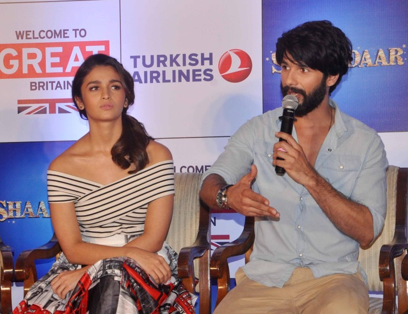 Shaandaar,Shahid Kapoor,Alia Bhatt,Shahid Kapoor and Alia Bhatt,bollywood movie Shaandaar,Shaandaar movie promotion,Tourism In Britain
