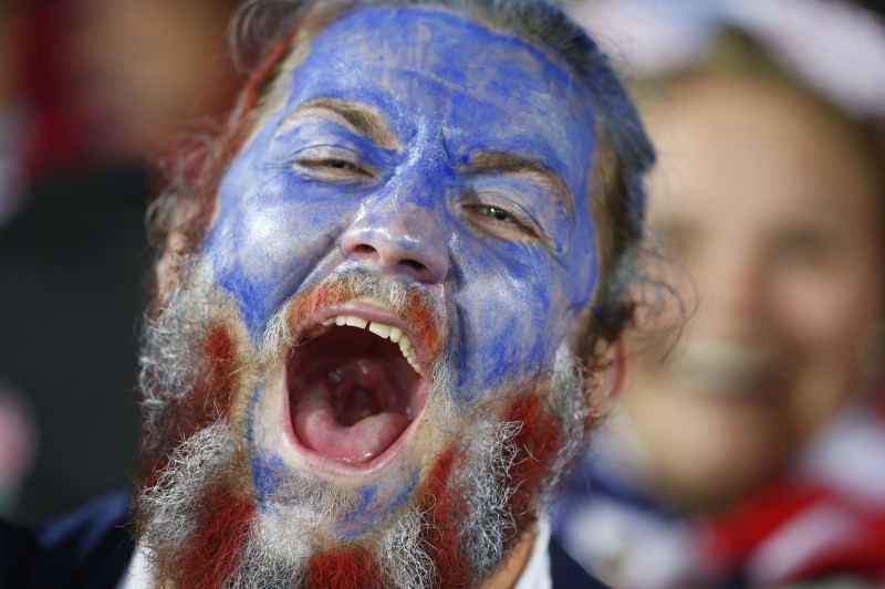 Rugby World Cup,Rugby World Cup 2015,IRB Rugby World Cup 2015,IRB Rugby World Cup,Fans posses,face paint