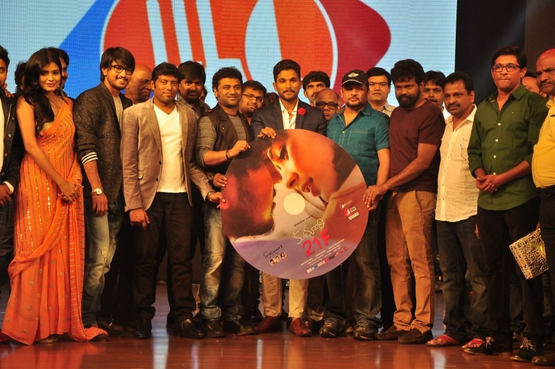 Allu Arjun,Kumari 21F audio launch,Devi Sri Prasad,Kumari 21F,Kumari 21F audio launch pics,Kumari 21F audio launch images,Kumari 21F audio launch photos,Kumari 21F audio launch pictures