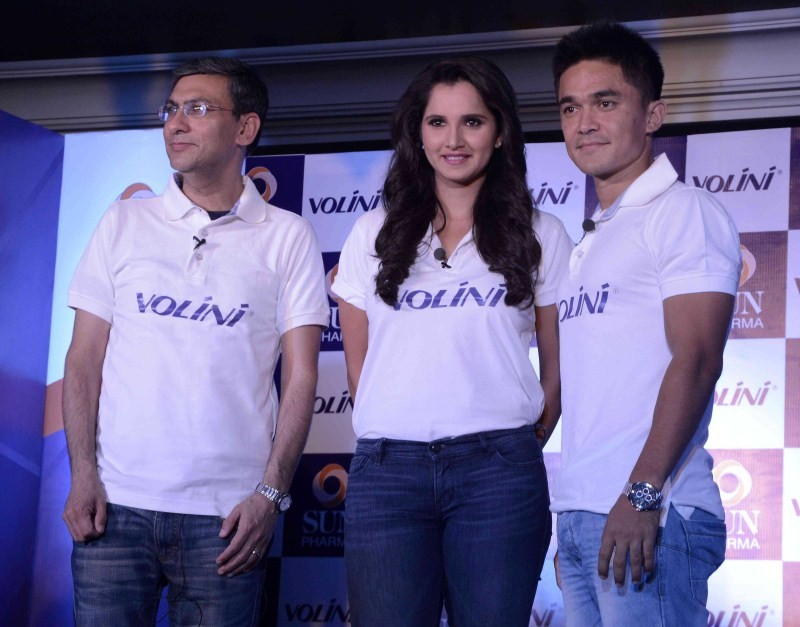Sania Mirza,Sunil Chhetri,Volini,Volini brand ambassadors,tennis player Sania Mirza,Indian football team captain Sunil Chhetri