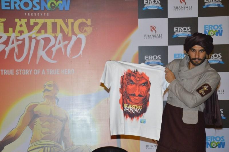 Ranveer Singh,Ranveer Singh launches Blazing Bajirao,Blazing Bajirao,actor Ranveer Singh
