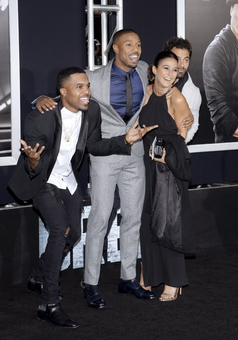 Creed premiere show,Creed,Sterling Brim,Janelle Monae,Tessa Thompson