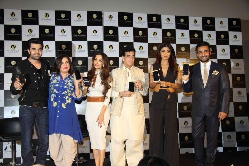 Shilpa Shetty,Raj Kundra,Shilpa Shetty,Raj Kundra launch Viaan Mobiles,Viaan Mobiles,Viaan Mobile,Malaika Arora Khan,Farah Khan,Manish Paul,Jeetendra