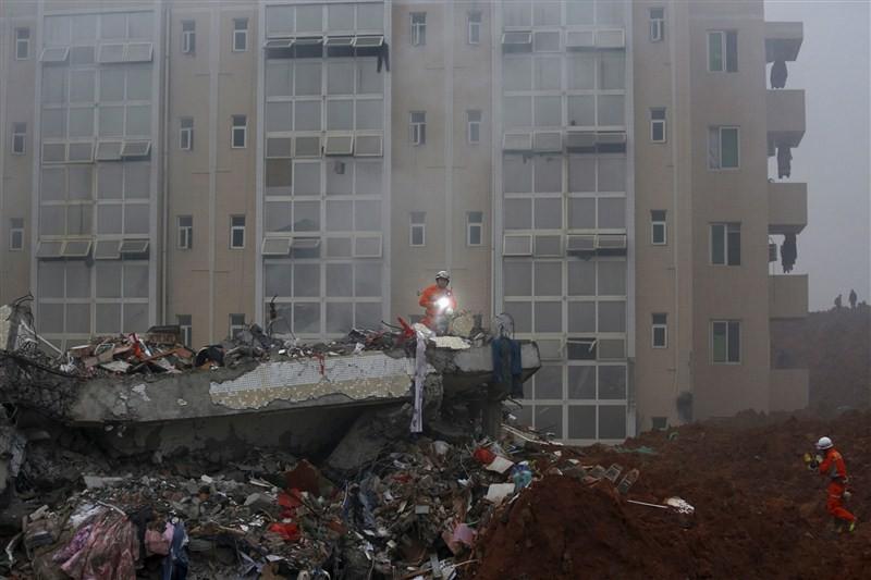 Chinese industrial park landslide,industrial park landslide,China's Guangdong province,Shenzhen city,landslide,91 missing in Chinese industrial park landslide