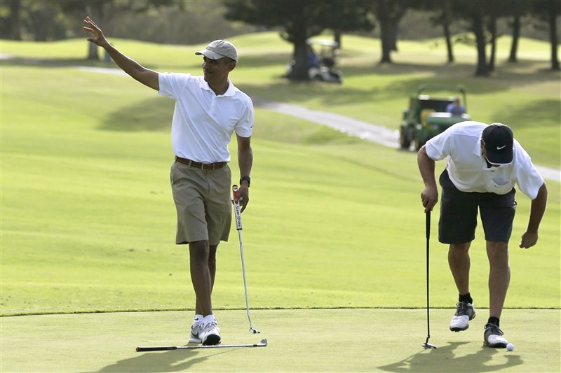 Barack Obama,President Obama,Barack Obama plays golf with friends,Obama plays golf with friends,Barack Obama playing golf