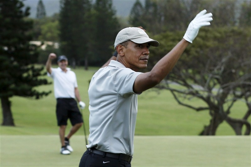Barack Obama,President Obama,Barack Obama plays golf with friends,Obama plays golf with friends,Barack Obama playing golf