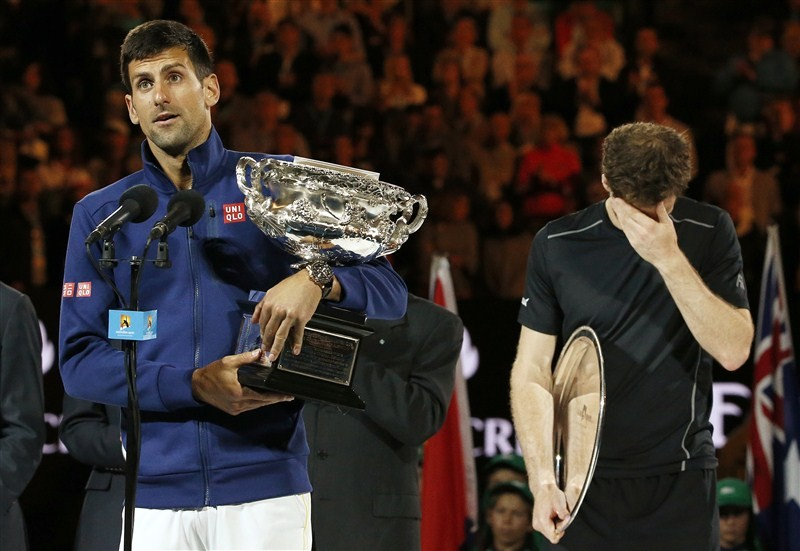 Andy Murray beaten by Novak Djokovic,Novak Djokovic,Novak Djokovic beats Andy Murray,Australian Open final,Australian Open final 2016,Novak Djokovic wins Australian Open final,Novak Djokovic champion,Andy Murray
