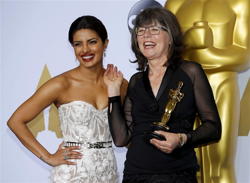 Priyanka Chopra,Priyanka Chopra at Oscars red carpet,Priyanka Chopra at Oscars,Priyanka Chopra at Oscars red carpet in Lebanese designer gown,Priyanka Chopra in Lebanese designer gown,Bollywood actress Priyanka Chopra,actress Priyanka Chopra,88th Academy