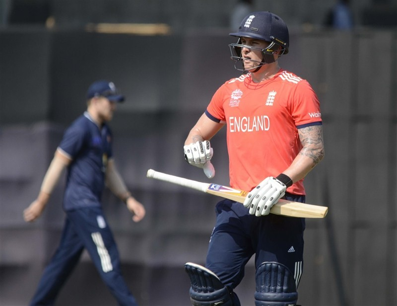 Mumbai's talented batsman Jay Bista scored an impressive 37-ball 51, but his side Mumbai Cricket Association XI (MCA XI) went down by 14 runs against England in a World Twenty20 warm-up match at the Brabourne Stadium on Monday.