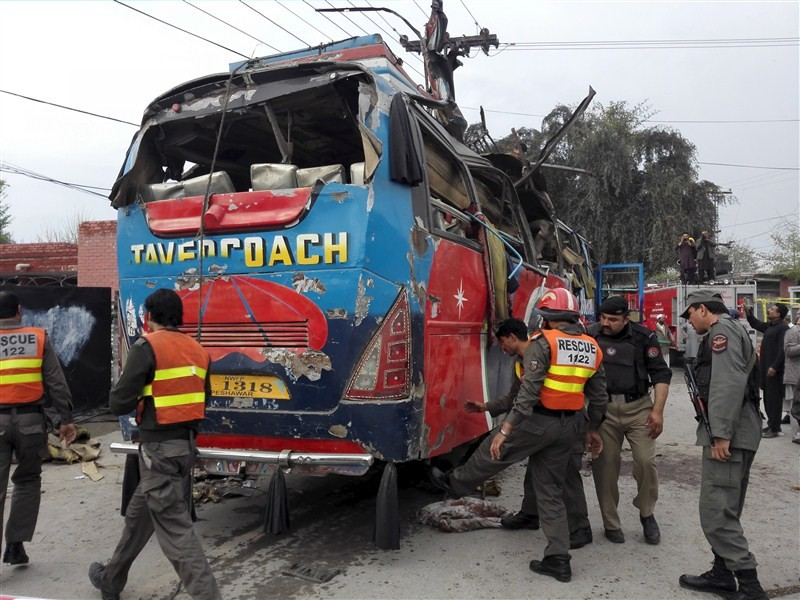 Bus blast,Peshawar,Peshawar Bus blast,Bus blast in Pakistan,Khyber Pakhtunkhwa,Terror attack