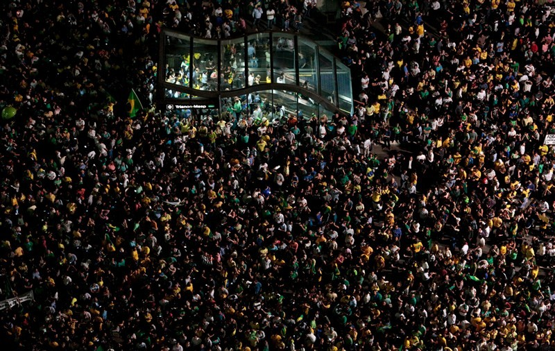 Protests erupted in several Brazilian cities on Wednesday after President Dilma Rousseff named her predecessor Luiz Inacio Lula da Silva chief of staff and a taped conversation fed opposition claims the move was meant to shield Lula from prosecution.