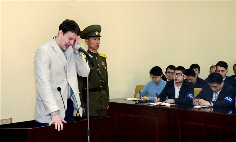 North Korea,Otto Warmbier,hard labor,crimes against the state,North Korea Sentences American Student to 15 Years,Washington,punishment,increasingly clear