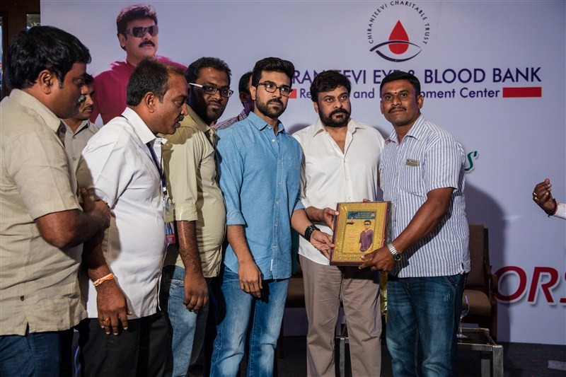 Chiranjeevi,Ram Charan,Chiranjeevi thanked the blood donors,Ram Charan thanked the blood donors,mega blood donation camps,blood donation camps,blood donation