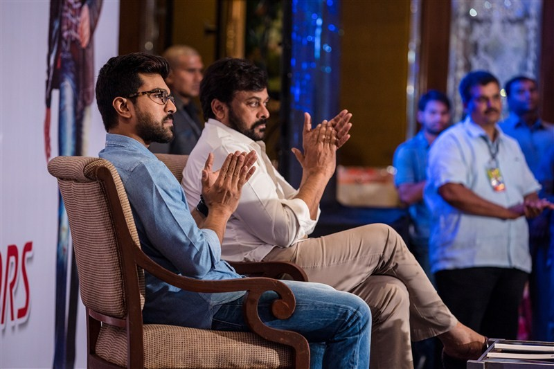 Megastar Chiranjeevi and Ram Charan met and greeted the blood donors and organisers, who contributed dearly towards the success of the mega blood donation camps organized across various parts of the world.