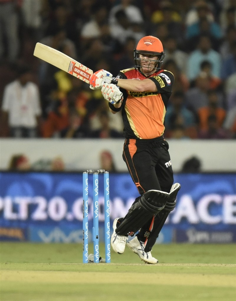 Leading from the front, skipper David Warner smashed an unbeaten 90 to single-handedly steer Sunrisers Hyderabad to a comfortable seven-wicket victory over Mumbai Indians in an Indian Premier League (IPL) match at the Rajiv Gandhi International Stadium on Monday.