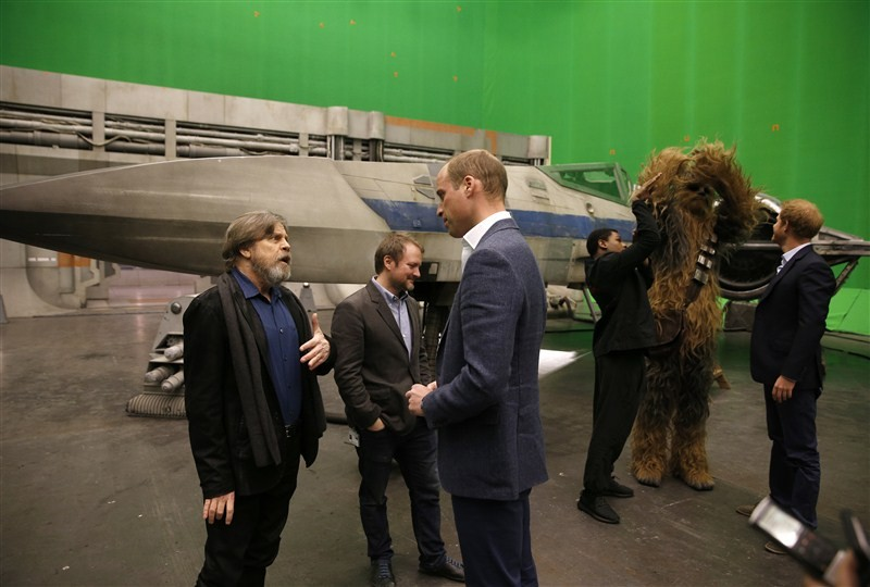 Prince William and Prince Harry visit Star Wars set,Prince William,Prince Harry,Prince William and Prince Harry,Star Wars set at Pinewood Studios,Star Wars set,Star Wars