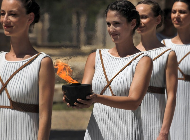 Lighting the Olympic flame,Olympic flame,Olympic Flame 2016,Rio 2016,Olympic flame lighting ceremony