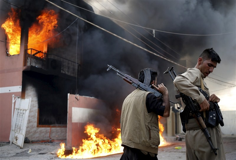 Kurdish Peshmerga,Shiite militia,Kurdish Peshmerga,Shiite militia clash in Iraq,clash in Iraq,Violence in Tuz Khurmatu,Violence in Iraq,Islamic State