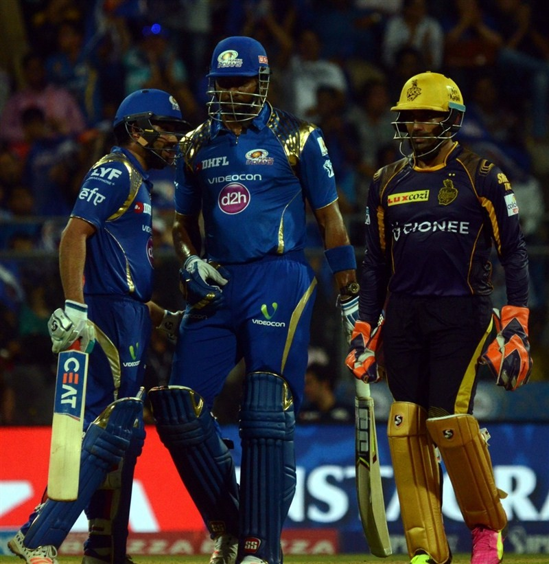 Mumbai Indians,Kolkata Knight Riders,Mumbai Indians beat Kolkata Knight Riders by 6 wickets,Mumbai Indians beat Kolkata Knight Riders,Rohit Sharma,Kieron Pollard,Indian Premier League,Indian Premier League 2016,Indian Premier League 9,IPL 2016,IPL pics,IP