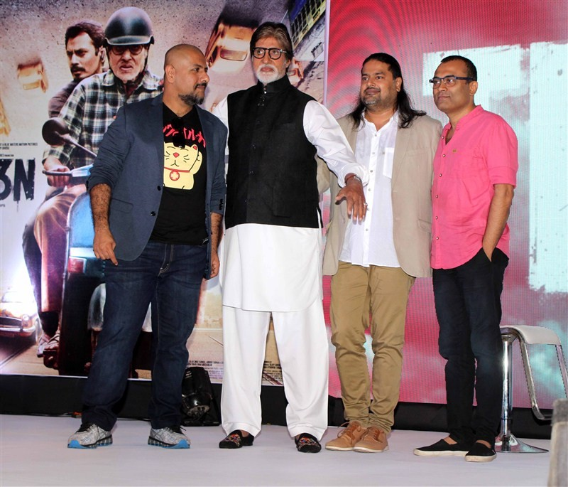 Amitabh Bachchan, Vishal and Others launched the music of film TE3N at an event in Mumbai.