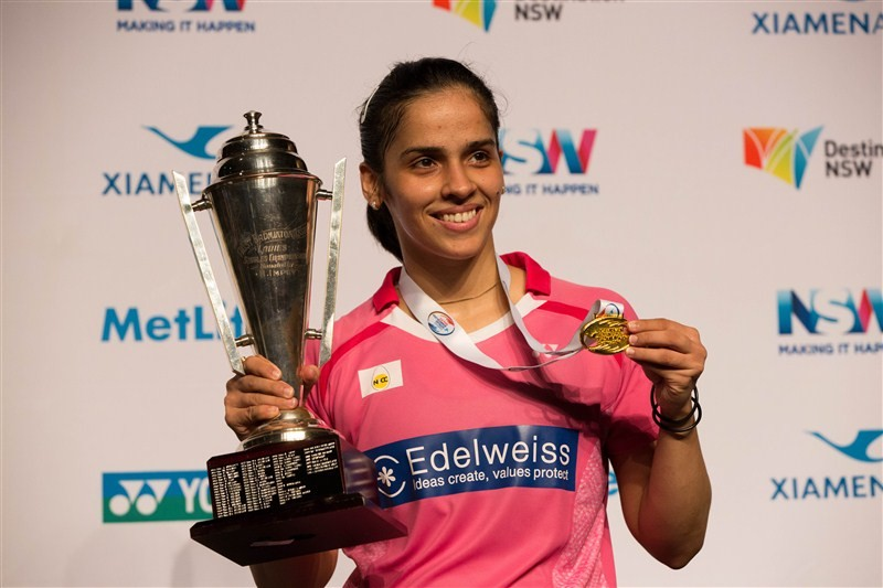 Saina Nehwal,Saina Nehwal clinches Australian Open title,Saina Nehwal wins Australian Open title,Australian Open title,Australian title,2016 Australian Open title,Saina Nehwal captured second Australian Badminton Open Superseries,Saina Nehwal pics,Saina N