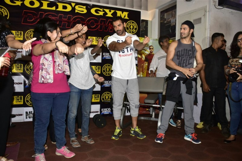 John Abraham,Varun Dhawan,John Abraham and Varun Dhawan,Dishoom promotions,Dishoom movie promotions,John and Varun,bollywood movie Dishoom,Dishoom promotion pics,Dishoom promotion images,Dishoom promotion photos,Dishoom promotion stills,Dishoom promotion