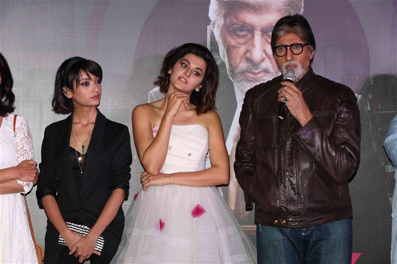 Pink Trailer launch,Pink Trailer,Amitabh Bachchan,Taapsee Pannu,Kirti Kulhari,Andrea Tariang,Angad Bedi,Pink Trailer launch pics,Pink Trailer launch images,Pink Trailer launch photos,Pink Trailer launch stills,Pink Trailer launch pictures