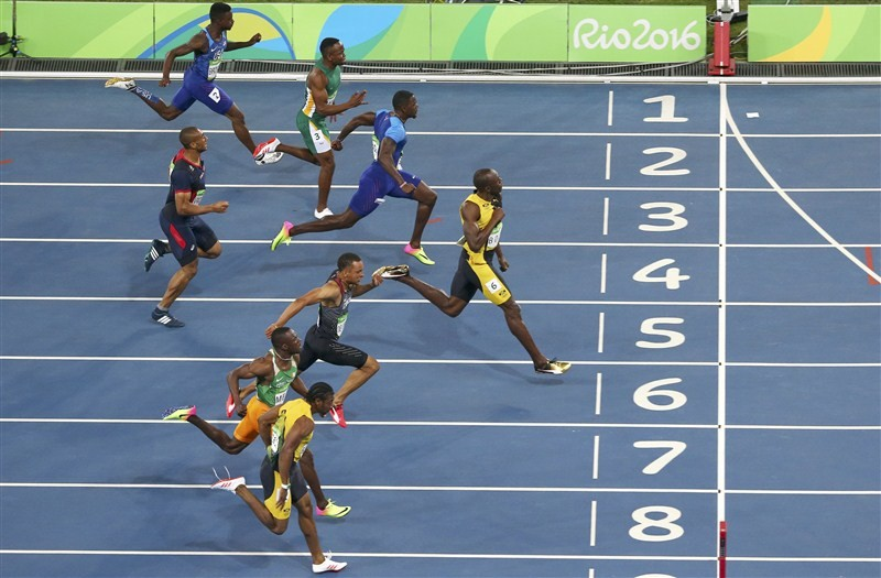 Rio Olympics 2016,Usain Bolt wins 100m gold,Usain Bolt wins gold,Usain Bolt,Jamaican athlete Usain Bolt,Rio Games,Bolt creates athletics history at Rio Olympics
