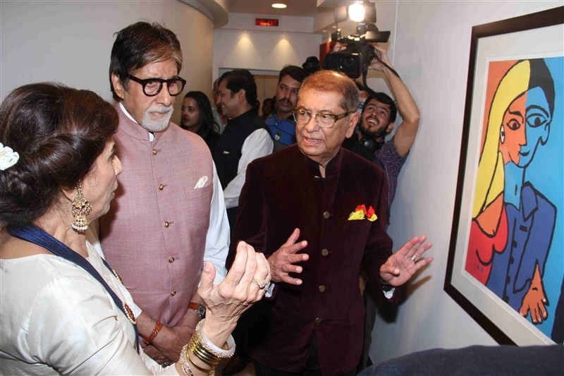 Amitabh Bachchan,Amitabh Bachchan launches Dilip De's digital art exhibition,Jaya Bachchan,Amitabh Bachchan and Jaya Bachchan,Amitabh Bachchan wife Jaya Bachchan,Dilip De's digital art exhibition,Celebration Of Love