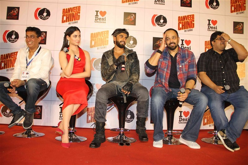 Ranveer Ching Returns launch,Ranveer Ching Returns,Bollywood movie Ranveer Ching Returns,Ranveer Ching Returns launch pics,Ranveer Singh,Tamannaah,Ranveer Ching Returns launch images,Ranveer Ching Returns launch photos,Ranveer Ching Returns launch stills