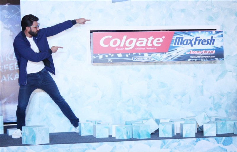 Ranveer Singh,Ranveer Singh promotes Colgate Max Fresh,Ranveer Singh promotes toothpaste,Colgate Max Fresh,Colgate toothpaste Max Fresh,Colgate toothpaste,Ranveer Singh latest pics,Ranveer Singh latest images,Ranveer Singh latest photos,Ranveer Singh late
