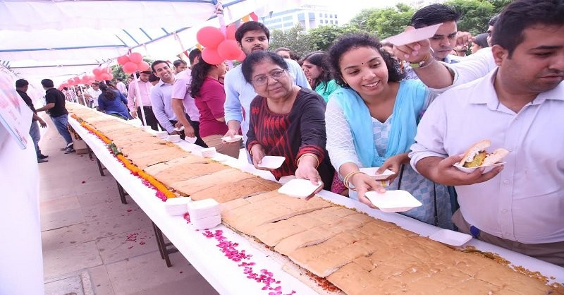 A team of 25 people used 200 kg of potatoes and bread each to make the world's longest Vada Pao in just three hours -- 145 feet long. So said a spokesperson for Nukkadwala, a chain of restaurants which brings street food from across India, on Tuesday, the World Vada Pao Day.