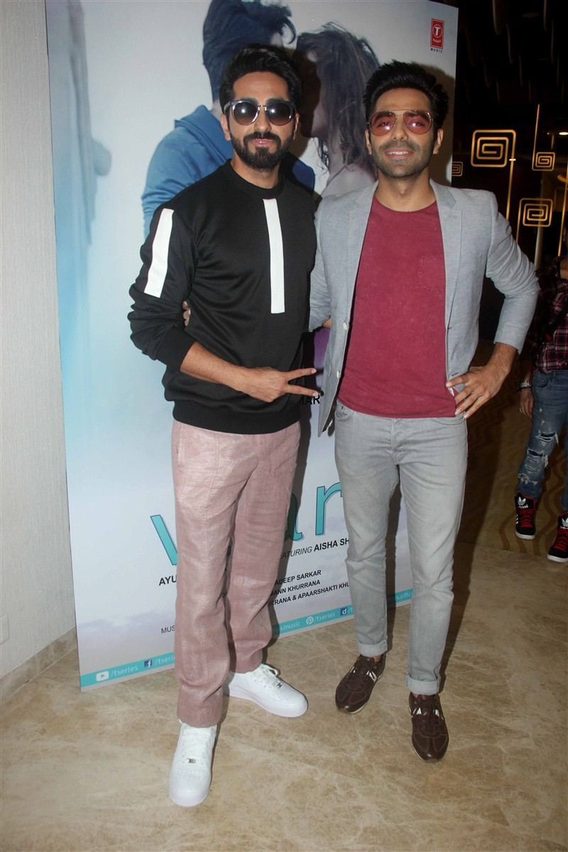 Ayushmann Khurrana,Aisha Sharma,Apaarshakti Khurrana,Ik Vaari,Ik Vaari song,Ik Vaari song launch,Ik Vaari song launch pics,Ik Vaari song launch images,Ik Vaari song launch photos,Ik Vaari song launch stills,Ik Vaari song launch pictures