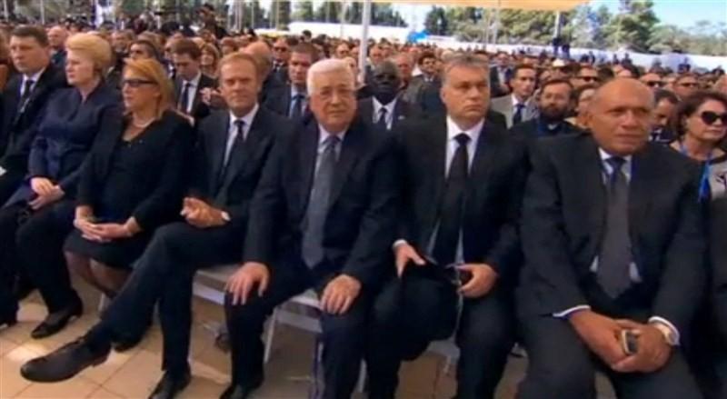 Barack Obama, Justin Trudeau, John Kerry at Shimon Peres funeral.