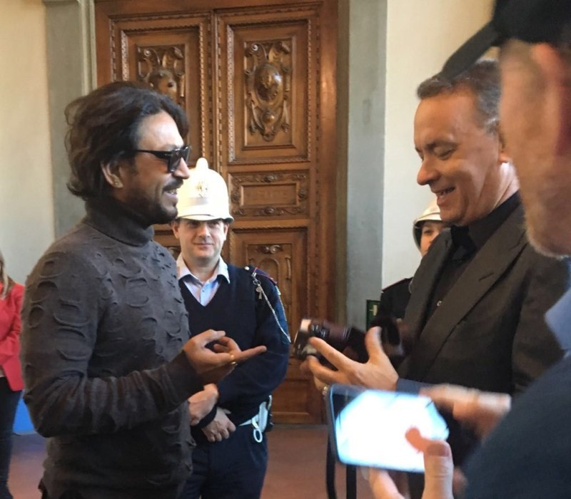 Irrfan Khan,Irrfan Khan joins Tom Hanks,Tom Hanks,Inferno for world premiere,Dario Nardella,Irrfan Khan with Tom Hanks,Irrfan Khan pics,Irrfan Khan images,Irrfan Khan photos,Irrfan Khan pictures,Irrfan Khan stills