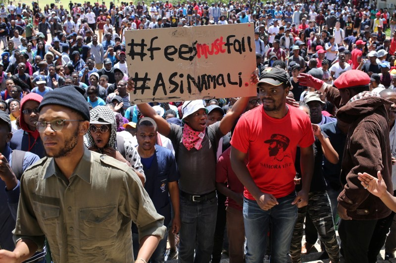 Student protests,Student protests in South Africa,university education,Students demanding free education,Johannesburg University