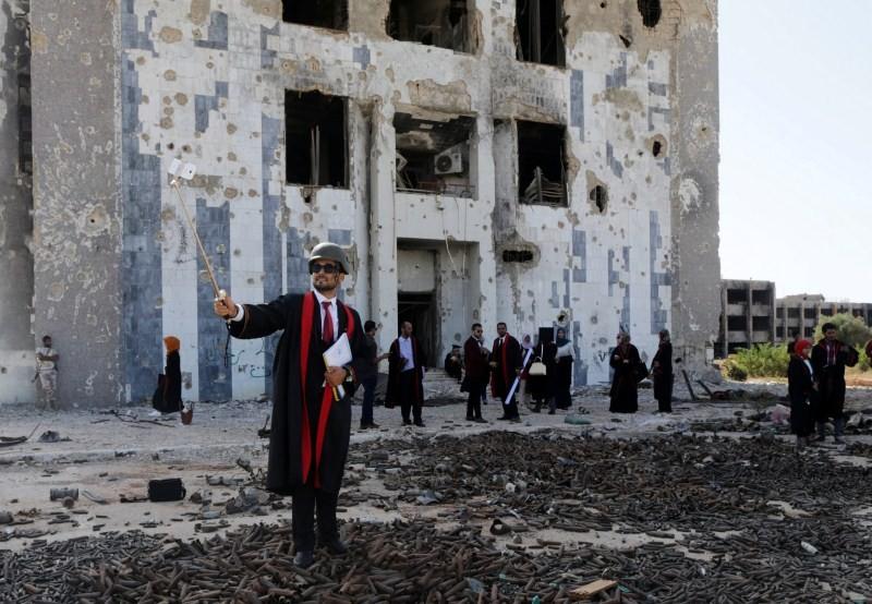 College graduates,Benghazi University,Libyan school,Student clashes,College graduates in a war zone