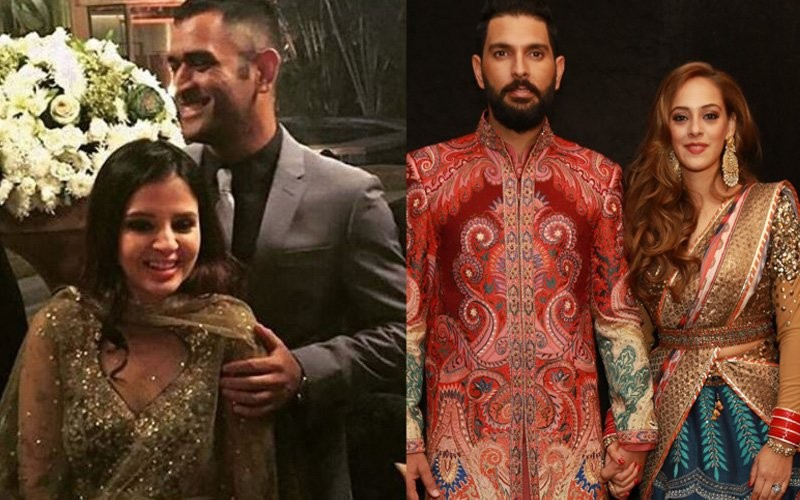 MS Dhoni,Harbhajan Singh,Sourav Ganguly,Yuvraj Singh and Hazel Keech's wedding reception,Yuvraj Singh wedding reception,Yuvraj Singh wedding reception  pics,Yuvraj Singh wedding reception  images,Yuvraj Singh wedding reception photos,Yuvraj Singh wed