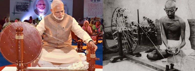 Image result for narendra modi and gandhi