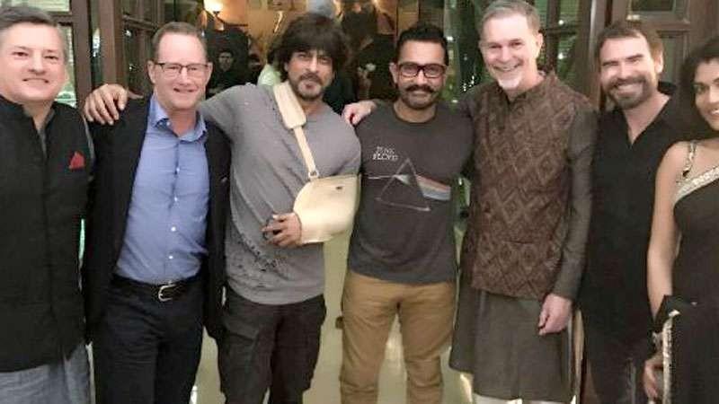 Shah Rukh,Aamir Khan,Shah Rukh and Aamir Khan,Shah Rukh Khan,Netflix CEO,Khantastic,Netflix's CEO