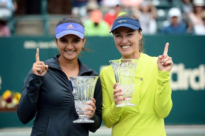Sania Mirza,Tennis player Sania Mirza,Martina Hingis,tennis player Martina Hingis,sania mizra and Martina Hingis,tennis
