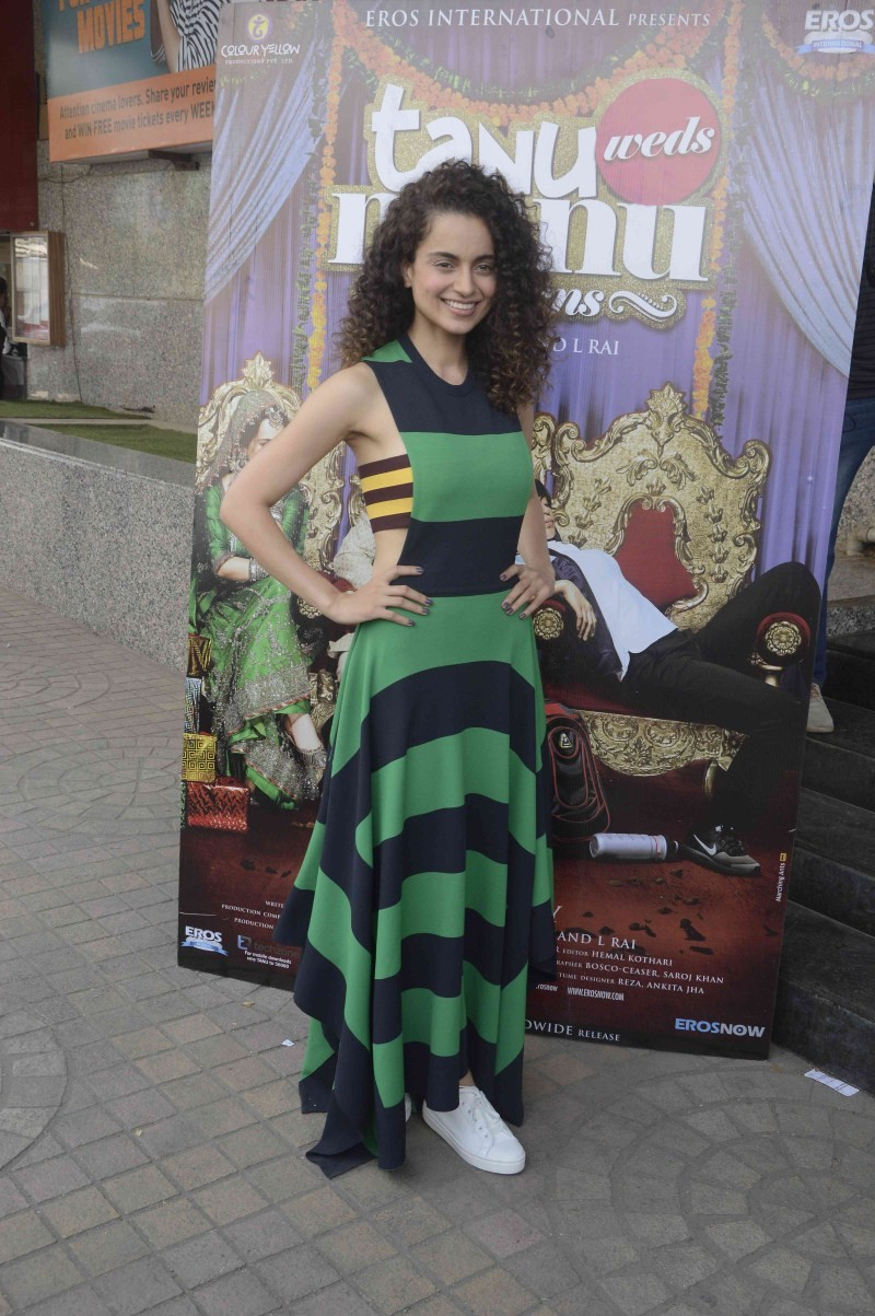 Kangana Ranaut At Tanu Weds Manu Returns Trailer Launch,Kangana Ranaut,actress Kangana Ranaut,Kangana Ranaut latest pics,Kangana Ranaut images,Kangana Ranaut photos,Tanu Weds Manu Returns Trailer Launch,Tanu Weds Manu Returns