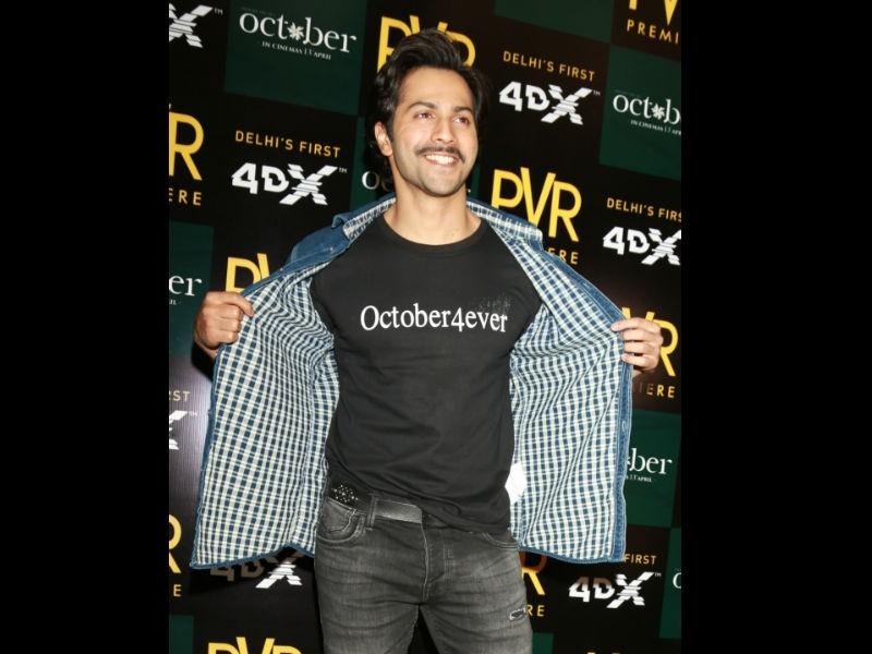 Varun Dhawan,actor Varun Dhawan,Sui Dhaaga,Sui Dhaaga shooting,October song,October movie song,Tab Bhi Tu,Tab Bhi Tu song,Shoojit Sircar