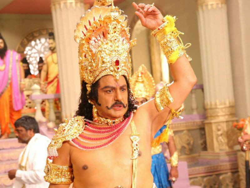 Balakrishna as Duryodhana,Duryodhana,Balakrishna,Nandamuri Balakrishna,NTR biopic launch,NTR biopic launch pics,NTR biopic launch images